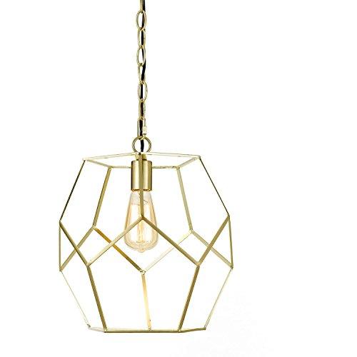 AF Lighting 9133-1P Brushed Gold Bellini One Light Pendant,