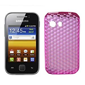 Funda TPU Diamond Samsung Galaxy Y (Rosa)