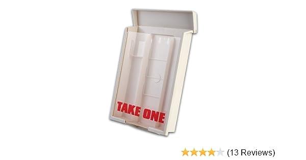 12 White Snap Shut Brochure Boxes Brochure Holder Flyer Box Wholesale Bulk  12 White Snap Shut Outdoor