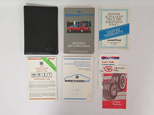 1990 Chevy Chevrolet Beretta Owners Manual