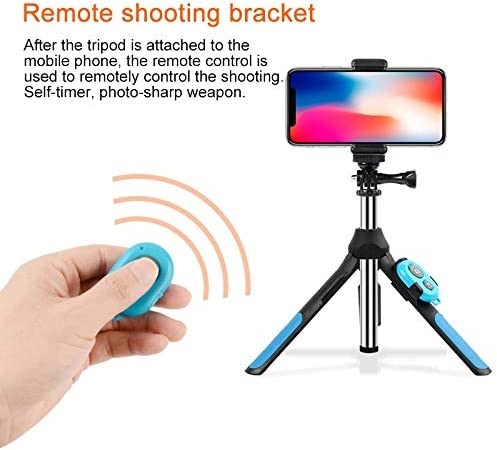 Blue Color : Blue Size:19-93cm Durable Zhiyuan Bluetooth Remote Control Integrated Tripod Selfie Stick for Sports Camera // 4-6 inch Phones