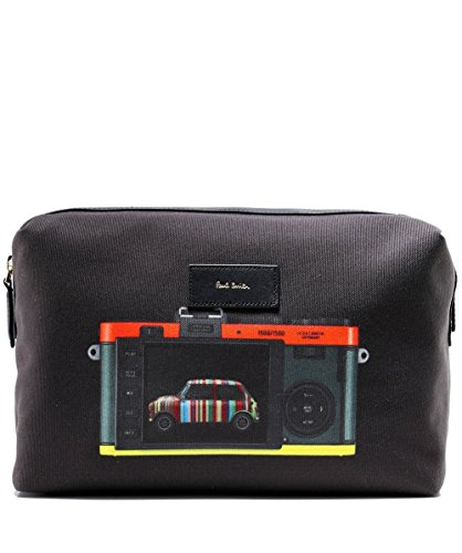 Paul Smith Men's Leica Mini Print Wash Bag Black One Size by Paul Smith