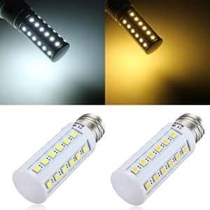 E27 5W 36 SMD 5050 White/Warm White LED Corn Light Bulbs AC 110V # Color--White