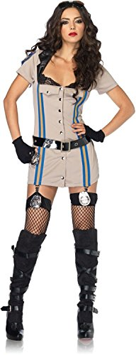 [Highway Patrol Honey Costume - Small - Dress Size 4-6] (Highway Patrol Costume)