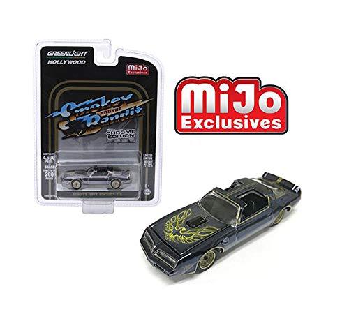New DIECAST Toys CAR Greenlight 1:64 Hollywood - Smokey and The Bandit Chrome Edition - BANDIT'S 1977 Pontiac T/A Black Chrome 51223 ()