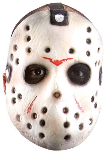 Friday The 13th Jason Hockey Mask (Friday The 13th Jason Voorhees Deluxe Eva Hockey Mask, Gray, One Size)
