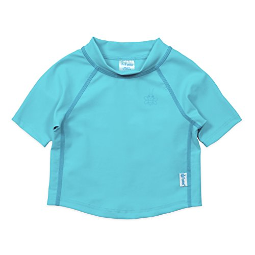 i play. Kids & Baby Short Sleeve Rashguard Shirt, Light Aqua, 24mo Boys Blue Cover Up