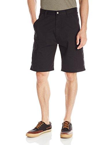 Cargo Classic Shorts - Wrangler Men's Authentics Classic Twill Cargo Short, Black Twill, 38