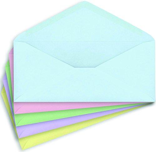 Staples #10, Pastel-Colored Gummed Envelopes, 50/Pack