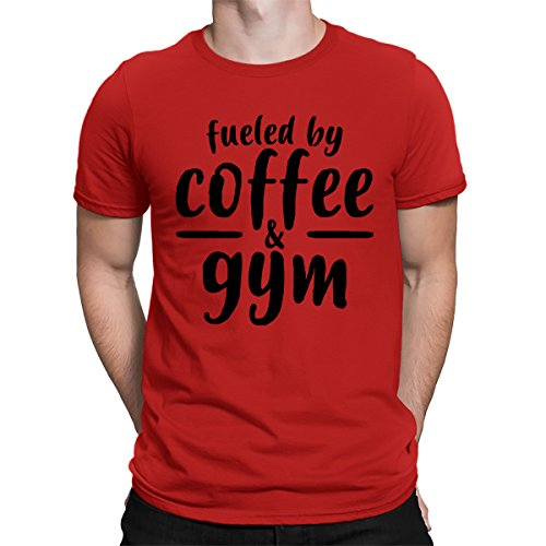 Price comparison product image Fueled By Coffee & Gym Men's T-Shirt,  SpiritForged Apparel,  Red 2XL