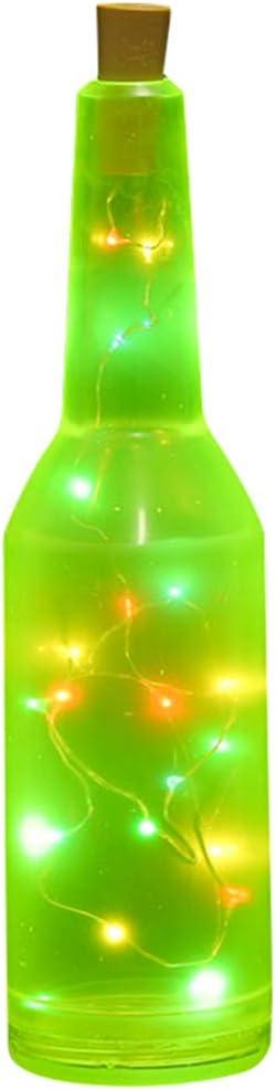 Bartender Bartending Práctica y rendimiento Botella Bar Pub Botella Vino Cóctel con luz LED, verde fluorescente