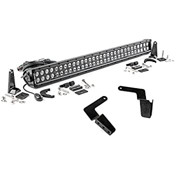 Rough Country - 70652 - 30-inch Black Series Dual Row LED Light Bar & Hidden Bumper Mounts Kit for Toyota: 07-14 FJ Cruiser 4WD/2WD