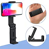 MiiKARE Universal Phone Stand Adjustable Slim C Clamp Phone Holder Durable Rubberized Mount 360 Rotating Bracket Safe Grip Securely Clamped to Desk Bed Post Counter Top for Kitchen Travel Plane Black