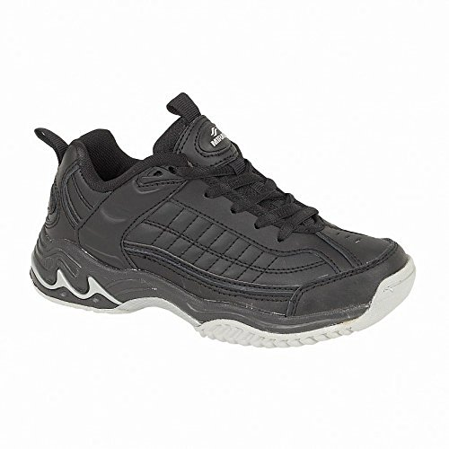Mirak Lace-Up Textile Lined Sports - Black - Size 35 36 37 38 39 40 Negro