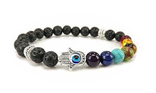 7 Colour Agate Energy Bracelet The Volcanic Beads Bracelet - Hand Of - Beaded Bracelet Hand