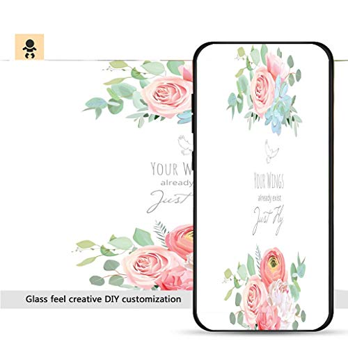 iPhone 7p / 8p Ultra-Thin Phone case Delicate Wedding Floral Vector Design Card_ Resistance to Falling, Non-Slip, Soft, Convenient Protective case