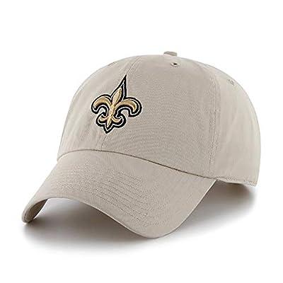 '47 NFL Alternate Clean Up Adjustable Hat, One Size Fits All (New Orleans Saints)