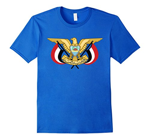 Coat Yemen (Mens Yemen Coat Of Arms T Shirt National Yemeni Emblem Small Royal Blue)