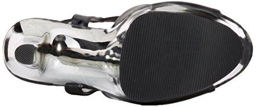 809 Sandali Chrome Pleaser 38 slv blk Xtreme Donna 4EWx5q