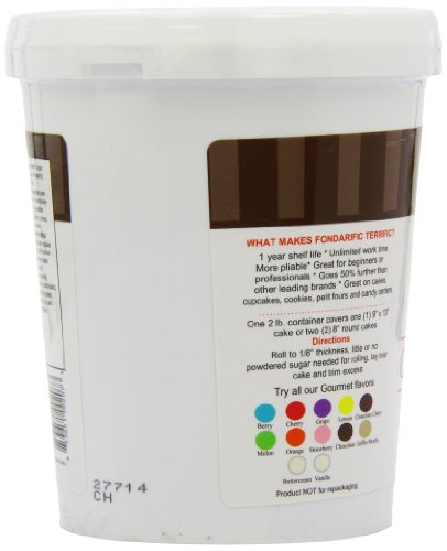 Fondarific Chocolate Fondant Brown, 2-Pounds by Fondarific (Image #7)'
