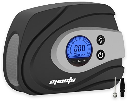 EPAuto 12V DC Auto Portable Air Compressor Pump / Tire Inflator for Compact / Midsize Sedan SUV (2018 New Model)
