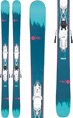 Rossignol Sassy 7/Xpress 10 Ski Package Womens Sz 150cm White/Sparkle