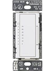 Lutron MA-T51MN-WH Maestro 3-Amp/600 Watt Multi-Location/Single Pole Countdown Timer Control Switch, White