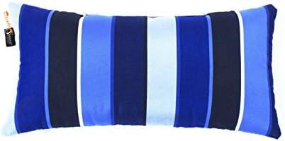 Summerset Casual Sunbrella Striped Lumbar Pillow 20×10 Indoor Outdoor Milano Cobalt