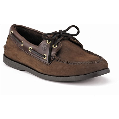 Sperry Top-Sider Men's Authentic 2-Eye Boat Shoe Buck Brown, 11.5 M US by Sperry Top-Sider