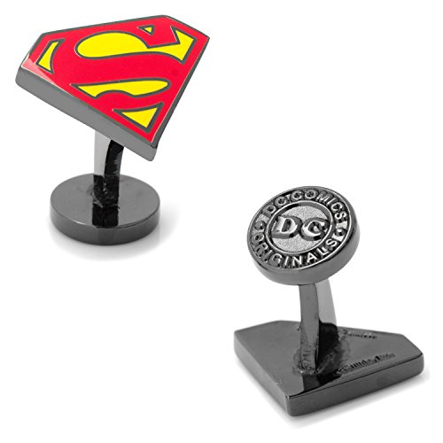 Cufflinks DC Comics Black Superman Enamel, Officially Licensed