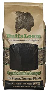 Buffaloam Organic Buffalo Compost, 8-Pound