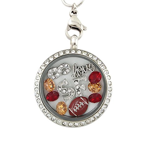 Sf Giants Girl Costume (San Francisco Baseball 30-mm Floating Charm Locket on 30-inch Necklace)