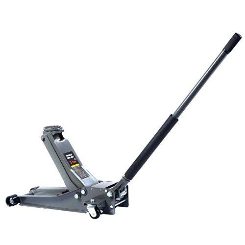 Toolsempire 3 Ton Heavy Duty Steel Ultra Low Profile Floor Jack Rapid Pump Car Pump Low Rider