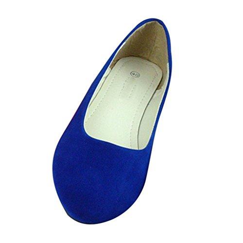 Da Minetom Semplice Stile nbsp;pompe Comode Donne Pantofole Scarpe Reale Flats Blu ARrRqBXw