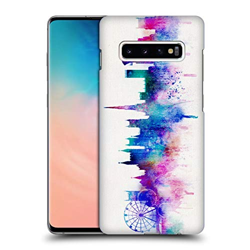 Official Ali Chris White Cityscape Watercolour Map Collection Hard Back Case for Samsung Galaxy S10+ / S10 ()