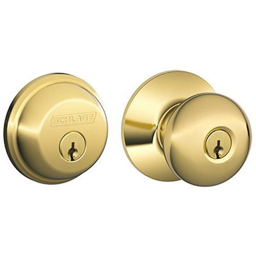 Schlage FB50NVPLY505 Entry Lockset & Deadbolt Plymouth Knob