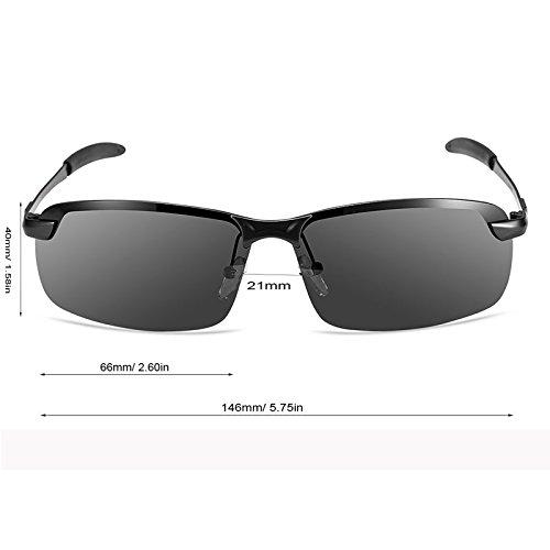 Zheino 5909 Grey HD Day Vision Polarized Sunglasses UV400 Anti-glare Driving Polarized Sunglasses
