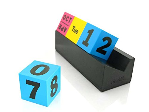 Perpetual Calendar Cube : Moma cubes perpetual calendar cmyk buy online in uae
