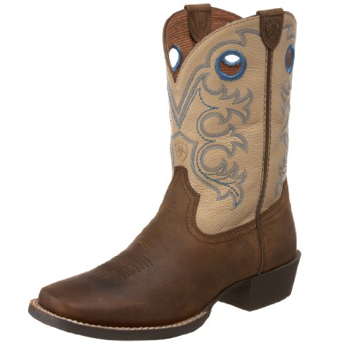 Kids' Crossfire Western Boot (Toddler/Little Kid/Big Kid),Distressed Brown/Cream,3 M US Little Kid