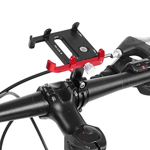 GUB PLUS 6 Road Fiets Mountainbike Mobiele Telefoon Houder Met 360 Graden Rotatie Zwart + Rood