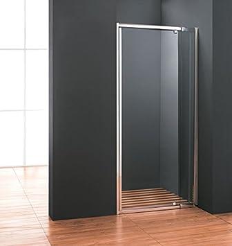 Puerta para baño puerta nicho 65 cm con tapa de cristal medidas: Amazon.es: Bricolaje y herramientas