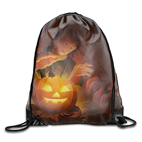 HBbaodingbdf Holiday Halloween Drawstring Drawstring Backpack for Adult Holiday Halloween10 -