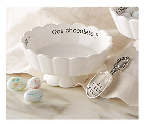 Mud Pie 4881012G Got Chocolate Scalloped Candy Dish, White (Got Chocolate compare prices)