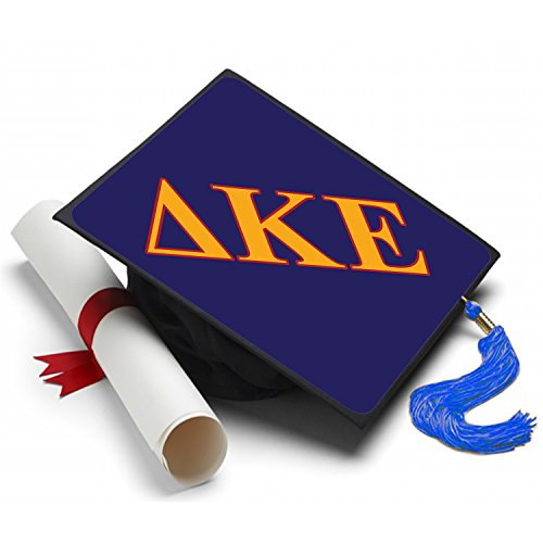 Greek Life Stuff Delta Kappa Epsilon Graduation Cap Hat Topper Decoration Fraternity 8.5 x 8.5 Inch DKE