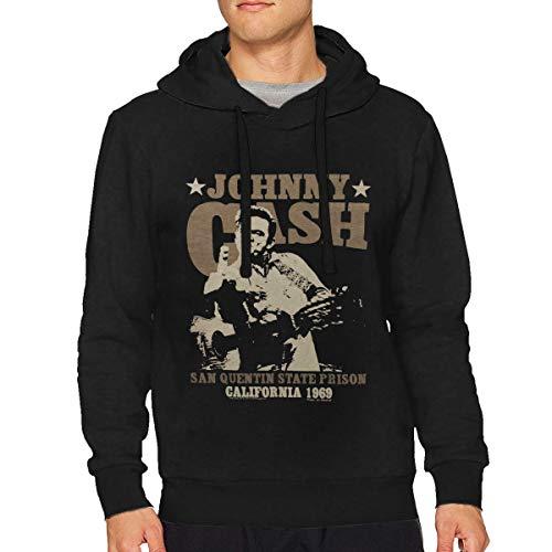Sbbiegen886wo Men Johnny Cash San Quentin Stars 3D Printed Hoodies Hooded Sweatshirt XXL Black -