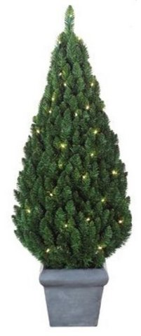 artificial pear potted prelit outdoor christmas tree 90cm green