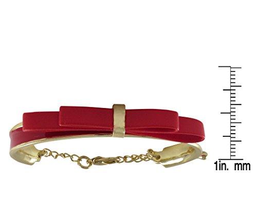 Ivy and Max Gold Finish Multi Color Enamel Flower Bangle Bracelet 5.5+1 Extender