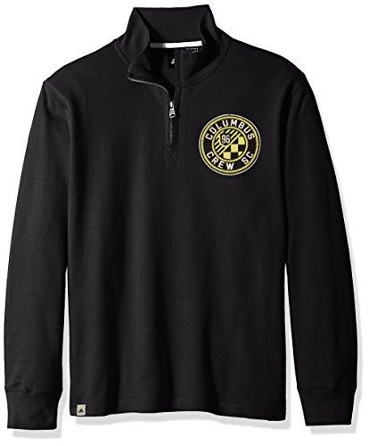 MLS Columbus Crew Adult Men MLS Crest Lifestyle 1/4 Zip Pullover, XX-Large, Black
