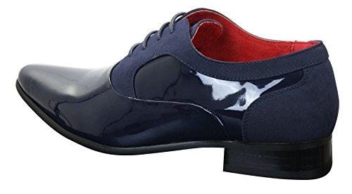 stringate italiane dal uomo blu elegante scamosciata in navy pelle design elegante Scarpe pelle in dHwqCdxg