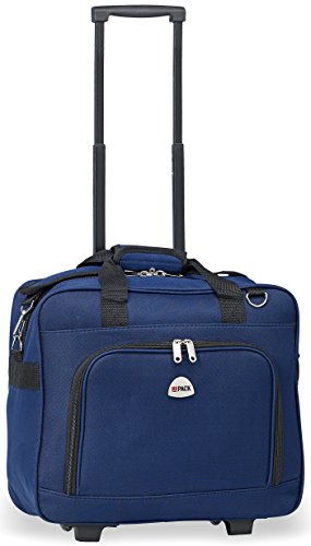 HiPack Multi-use Rolling Trolley Overnight Bag-TSA Approved Carryon (Navy)
